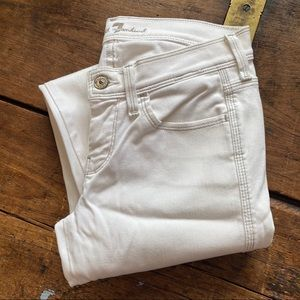 7 For all Mankind FAM White Straight  jeans silver